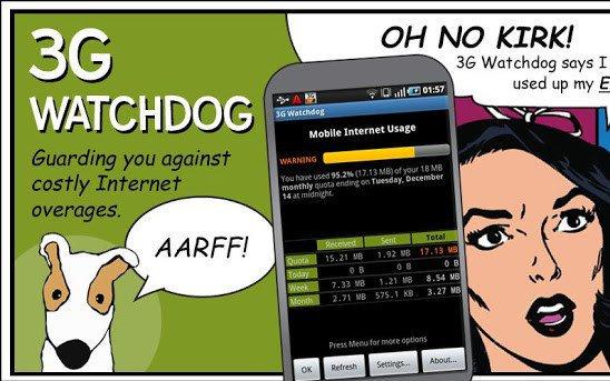 3g Watchdog контроль трафика андроид